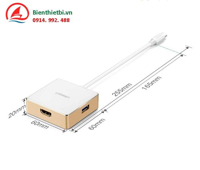 Biển thiết bị bán cáp Thunderbolt 3 to HDMI- Ugreen 30441sạc USB-C
