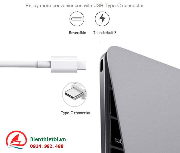 Cáp Thunderbolt 3 ra HDMI 3 cổng USB hỗ trợ sạc USB-C Ugreen 30441