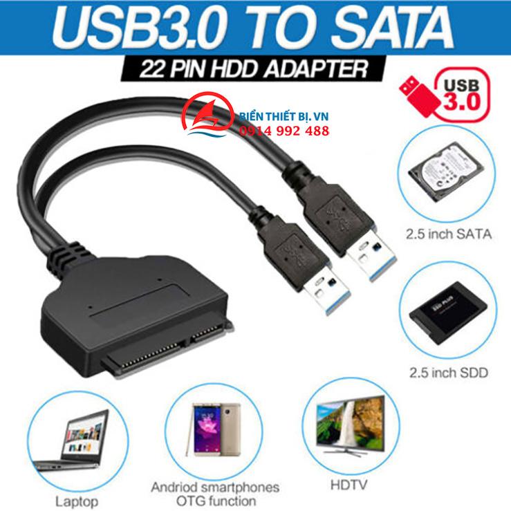 Cáp USB 3.0 sang SATA HDD SSD 2.5 chữ Y