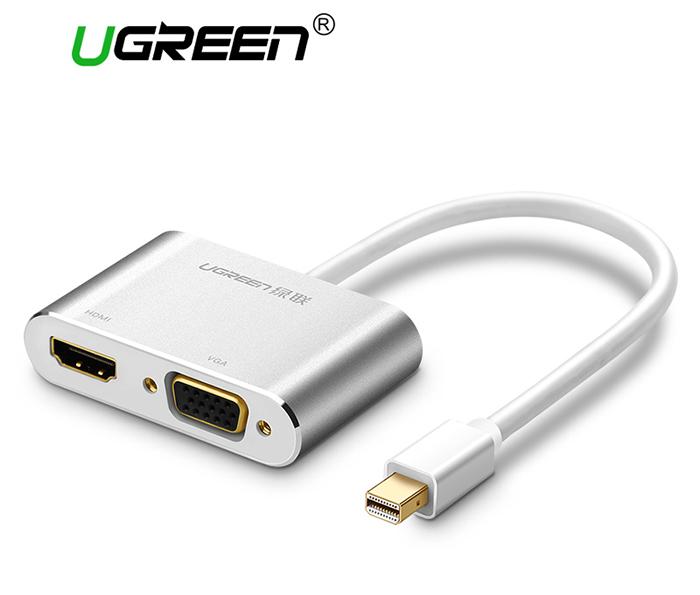 Cáp chuyển đổi Thunderbolt to HDMI VGA Ugreen 20421 vỏ nhôm trắng