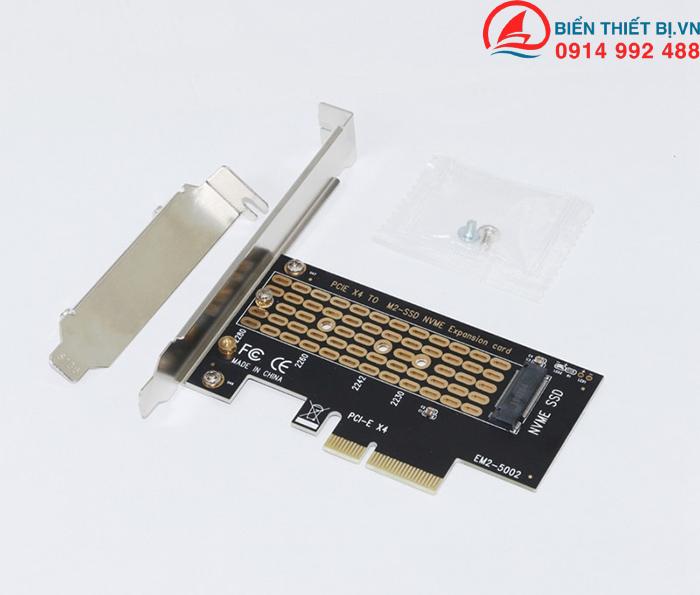 Card chuyển đổi SSD M2 NVMe PCIe to PCI-E4X - SSU EM2-5002