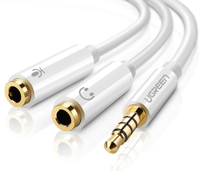 Cáp chuyển đổi tai nghe 3.5mm ra Micro và Loa - Ugreen 10789
