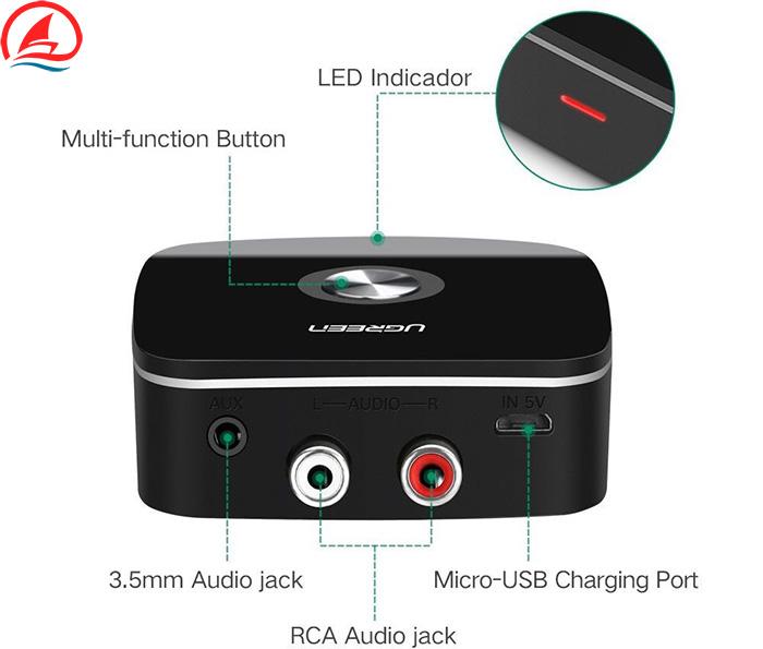 Thiết bị thu Bluetooth 4.1 cho Loa và Âm ly - Ugreen 30445