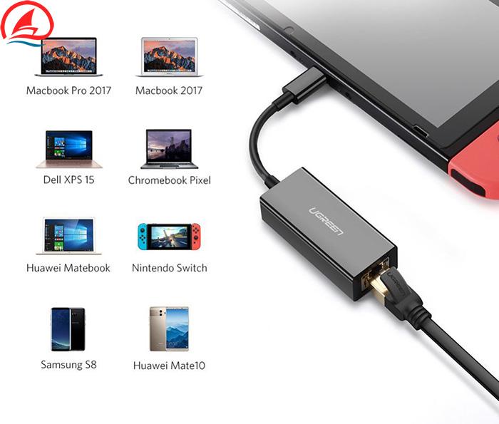 Cáp chuyển đổi USB Type C sang LAN 100Mb Ugreen 30287