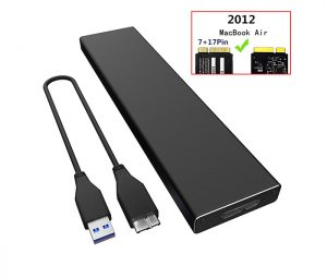 Box ổ cứng SSD 7+17Pin Macbook Air 2012, Pro 2012