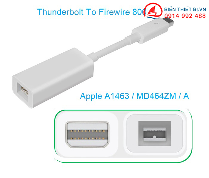 Cáp Thunderbolt to Firewire 800 MD464