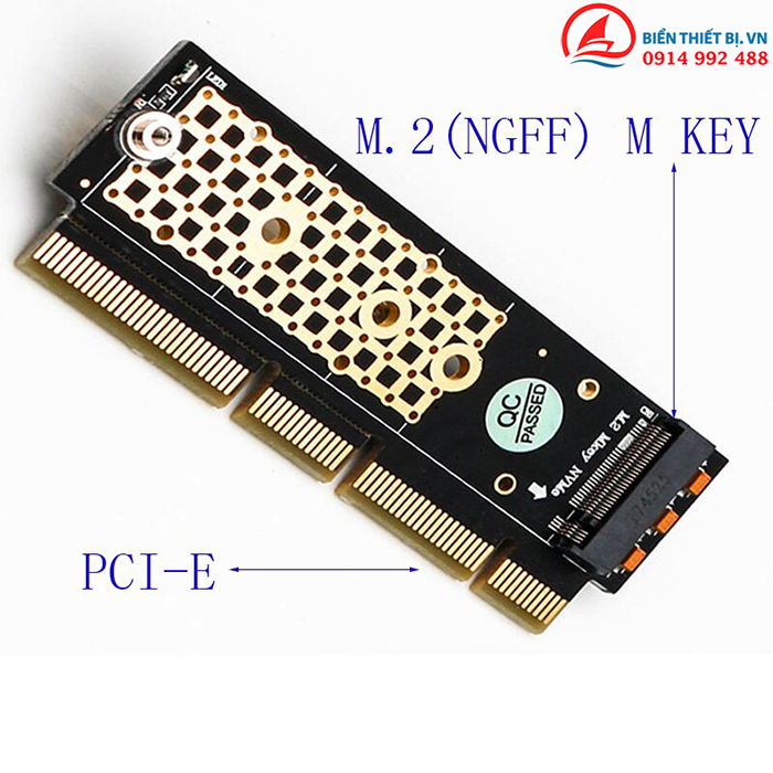Adapter SSD M2 NVMe PCIe to PCI-E 16X-1U cho Server