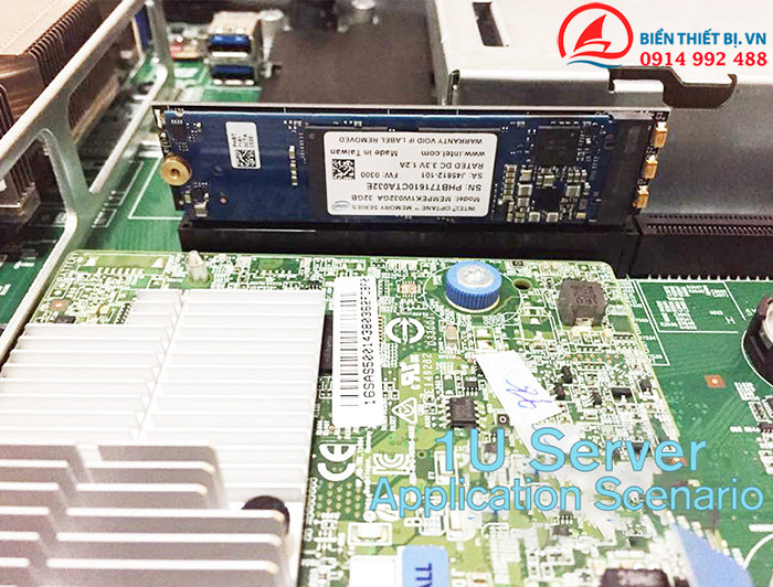 Card chuyển đổi NVMe M-Key sang PCI-E 16X-1U cho Server