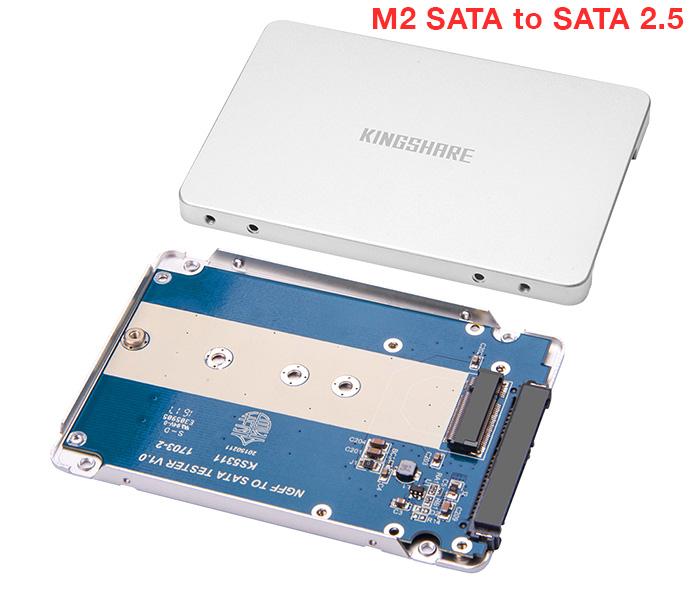 Box Kingshare chuyển ổ cứng M2 SATA 2280 to SATA 2.5 vỏ nhôm