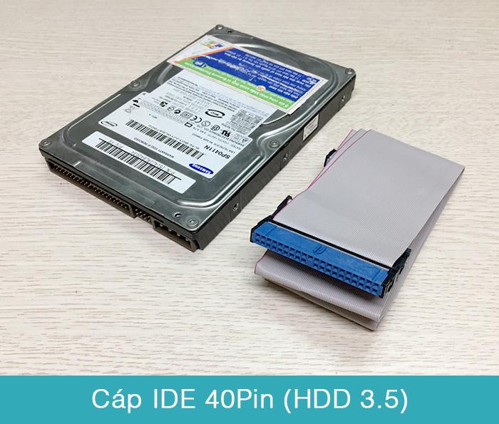 Cáp ATA IDE 40Pin cho HDD 3.5 DVD ROM - Biển thiết bi
