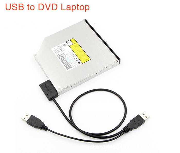 Cáp chuyển DVD Laptop ra USB (USB to Slimline Mini SATA 7+6)