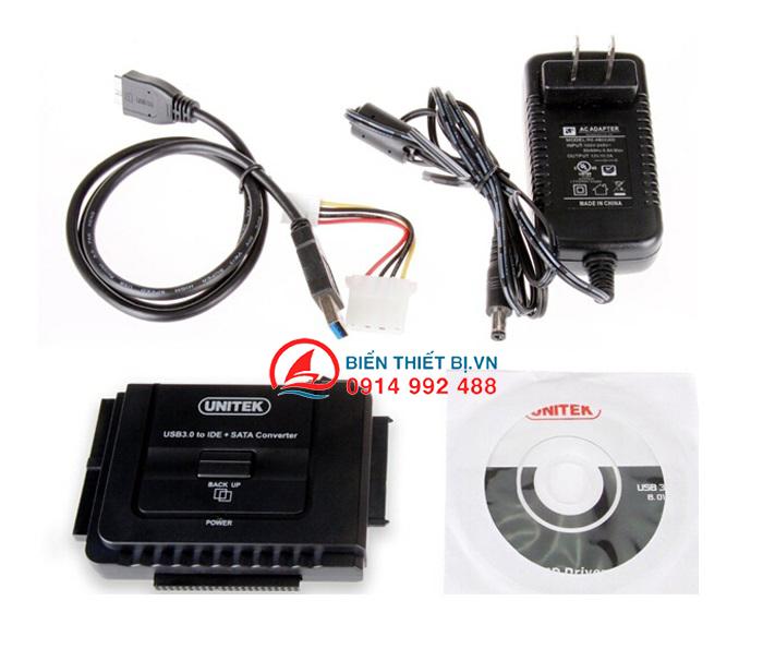 Bộ chuyển đổi HDD SSD DVD-R SATA IDE-ATA sang USB 3.0 Unitek Y-3322