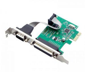 Card PCI-E 1X to DB25 Female – DB9Male