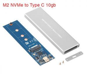 Hộp ổ cứng SSD M2 PCIe NVMe to Type C Gen 2