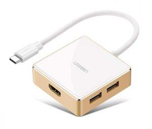 Cáp Thunderbolt 3 ra HDMI 3 cổng USB hỗ trợ sạc USB-C