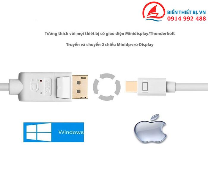 Cáp chuyển Mini DisplayPort to DisplayPort dài 3m Ugreen 10423