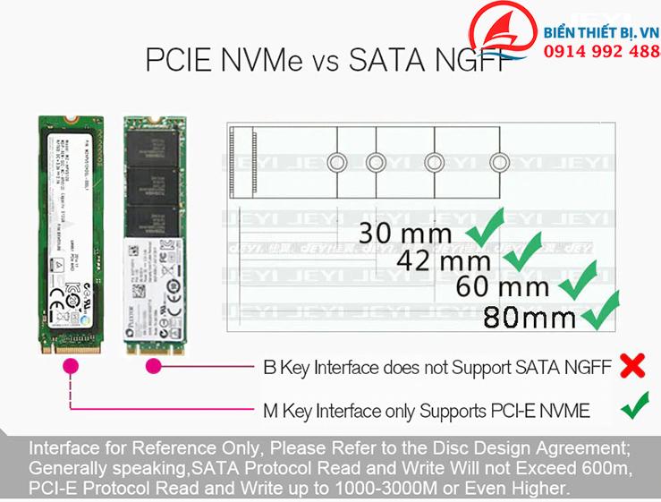 Card chuyển đổi M2 NVMe SSD NGFF sang PCI-E 3.0 X16 - JEYI