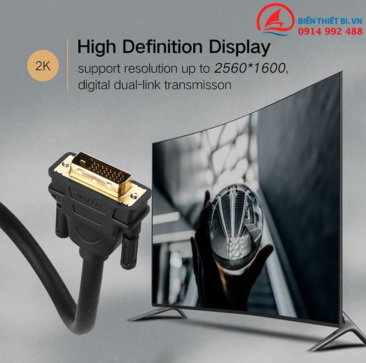 Cáp DVI-D 24+1 Dual Link - 1.5m hỗ trợ Full HD Ugreen 11606