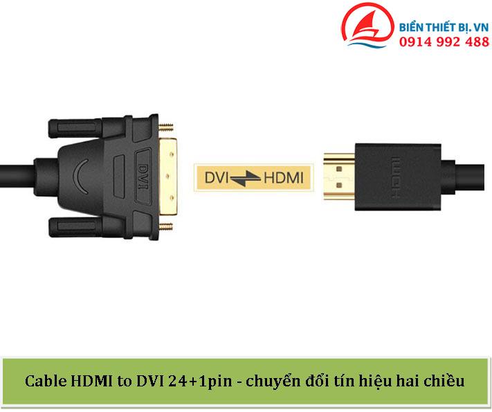 Cáp chuyển DVI-D sang HDMI dài 12m - chính hãng Ugreen 10165