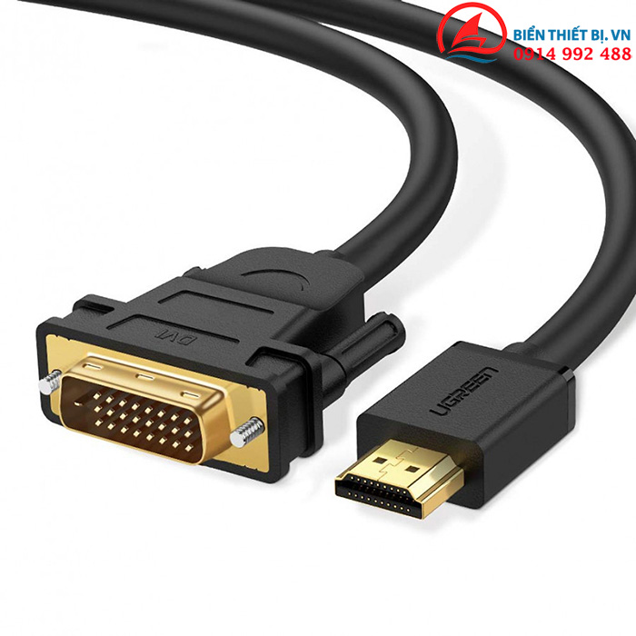 Cáp chuyển HDMI to DVI-D 24+1 dài 2m Ugreen 10135 chính hãng