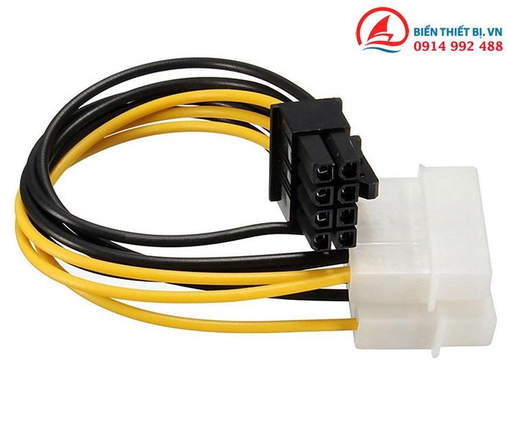 Cáp nguồn 2 ATA Molex ra 8Pin PCI-E cấp nguồn cho Card VGA