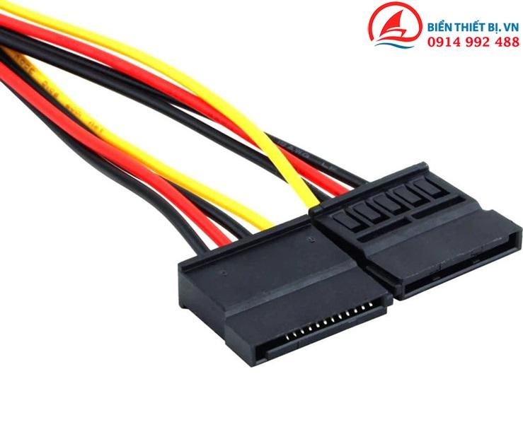 Cáp chia nguồn IDE 4Pin Molex sang 2 SATA 15Pin HDD SSD