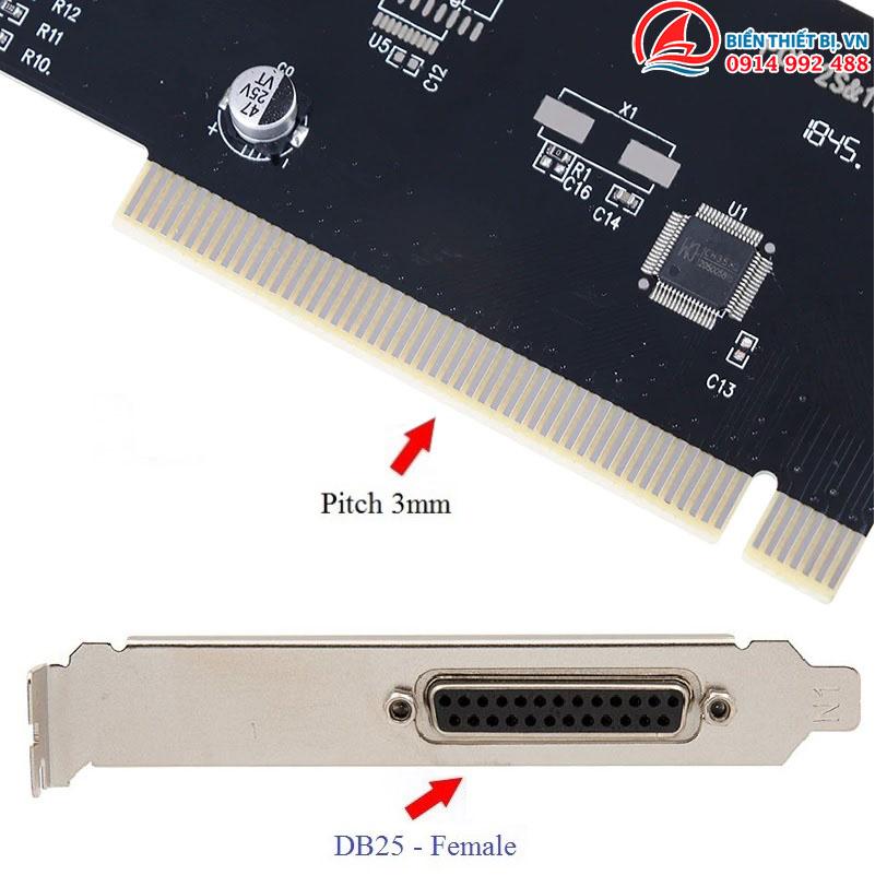 Card chuyển đổi PCI sang DB25 LPT Parallel Chip WCH CH351Q