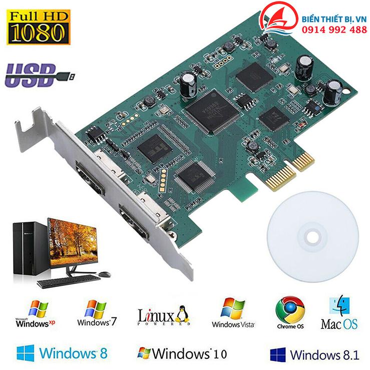 Card PCI-E to HDMI HD1080P ghi hình Game hỗ trợ SDK Live Stream