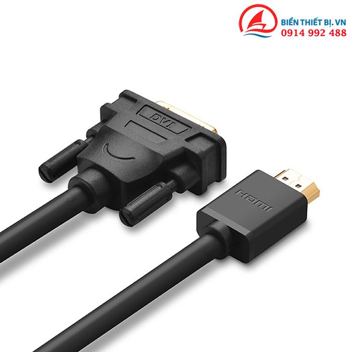Cáp DVI-D sang HDMI - Ugreen 10166 chính hãng dây dài 15m