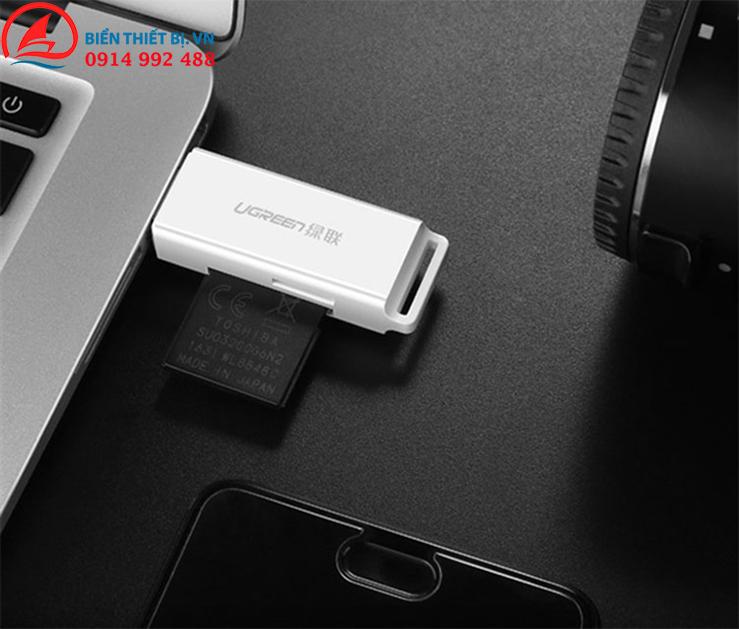 Đầu đọc thẻ nhớ SD/TF Chuẩn USB 3.0 - Chính hãng Ugreen 40753