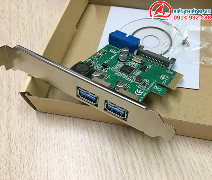 Card PCI-E to 2 USB 3.0 và 2 cổng 20pin Chipset NEC 720201
