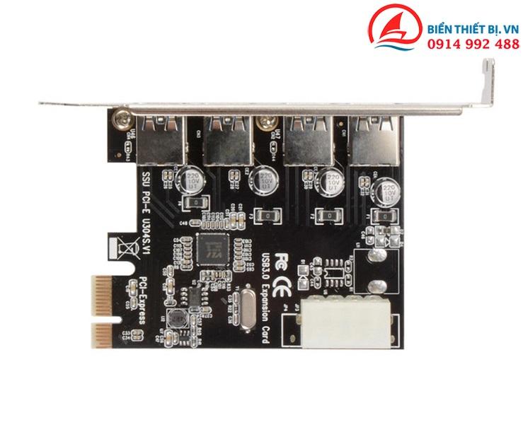 Card PCI-E ra 4 cổng USB 3.0 chipset VL805 tốc độ đến 5 Gbps