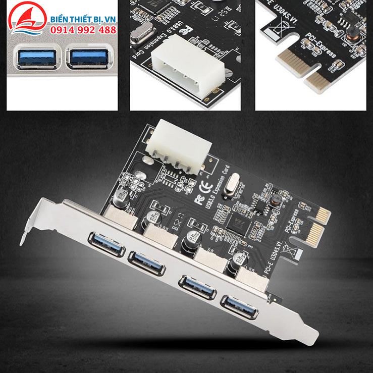 Thẻ mở rộng PCI Express Mainboard ra USB cho máy tính