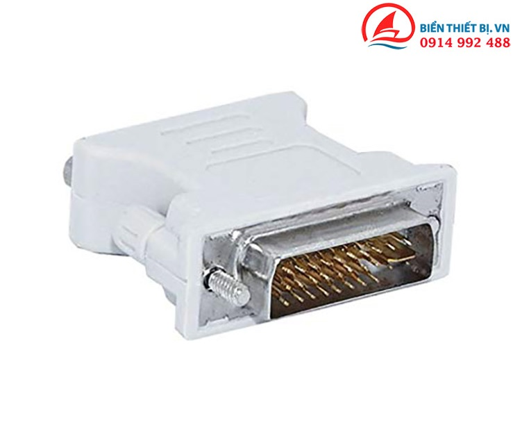 Đầu chuyển DVI-I 24+5 sang VGA 15pin Hỗ trợ độ phân giải Full HD