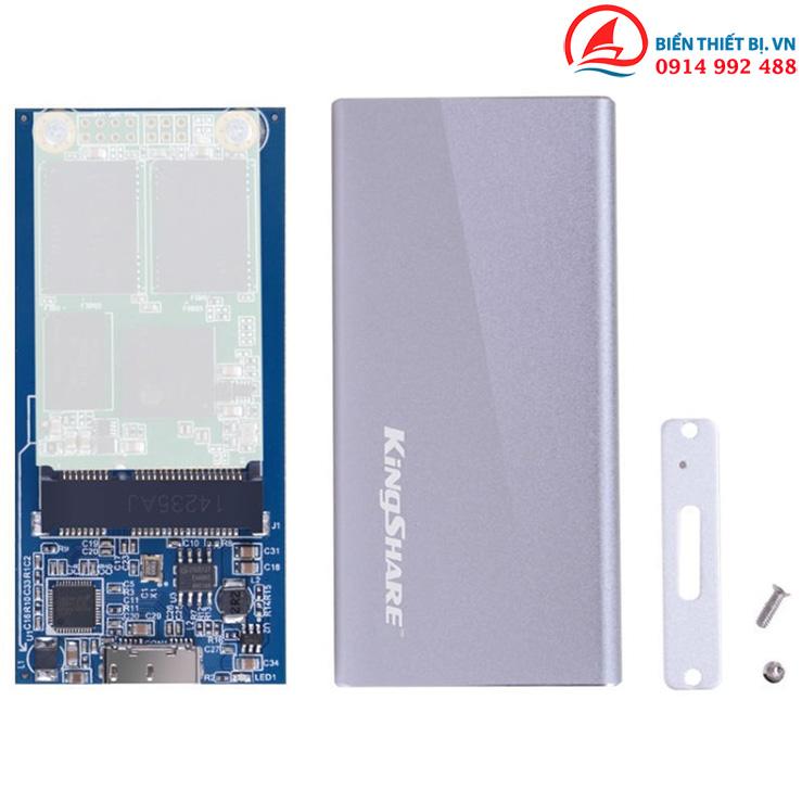 Box chuyển SSD mSATA ra USB 3.0 Kingshare KS-AMTU02 vỏ Nhôm