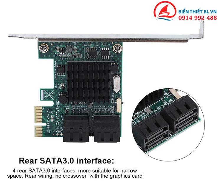 Card PCI-E to 4 SATA III Chipset NEC 720201 - Tốc độ 6Gbps