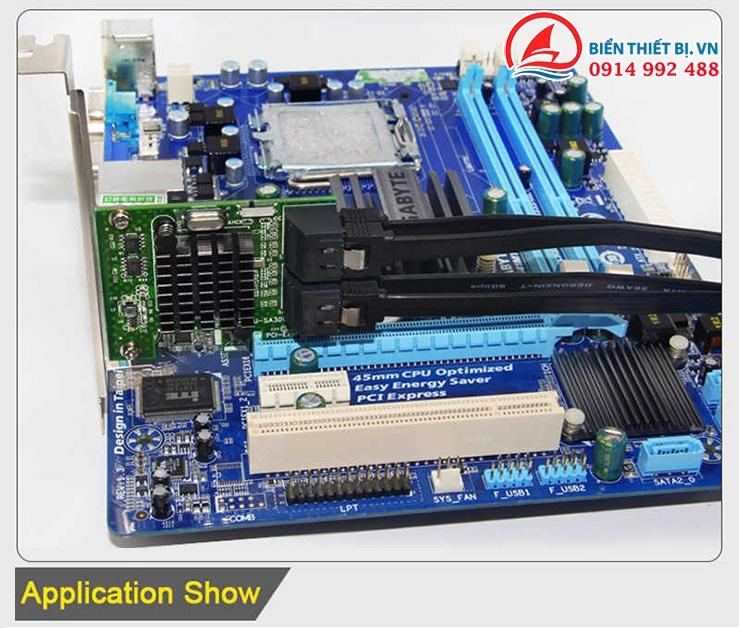 Chuyển đổi cổng PCI-E X1 Mainboard ra cổng SATA 3.0