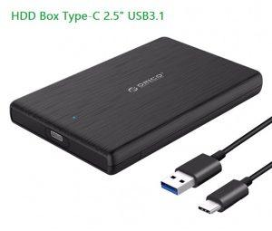 HDD SSD Box 2.5 Type-C USB 3.1 UASP SATA III 2TB
