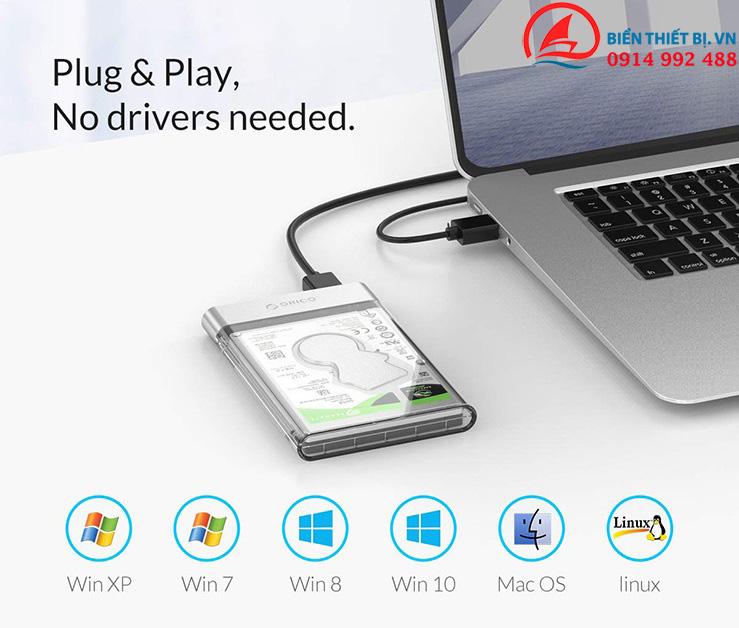 Ứng dụng hộp dựng ổ cứng SSD 2.5 SATA sang USB