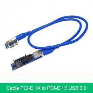 Riser PCIe 1X đến PCIe 1X Cáp USB 3.0 nồi dài 60cm