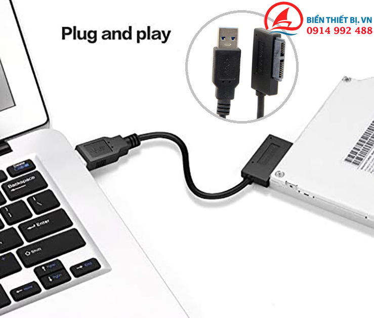 USB 3.0 to 13pin Slimline SATA Adapter