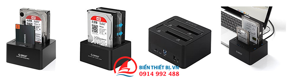 Orico SATA to USB 3.0 Khay cắm 2 Ổ cứng 2.5/3.5 SATA III