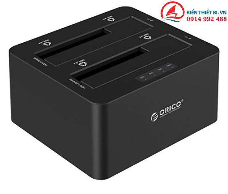 HDD Docking 2 Bay Orico 6629US3-C SATA to USB 3.0 nhân bản ổ cứng