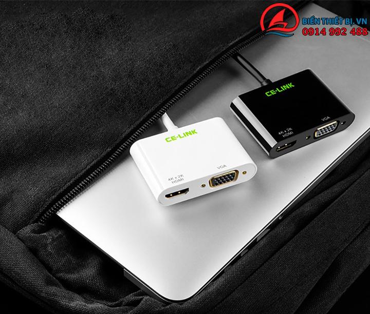 Cáp kết nối USB Type-C sang HDMI và VGA