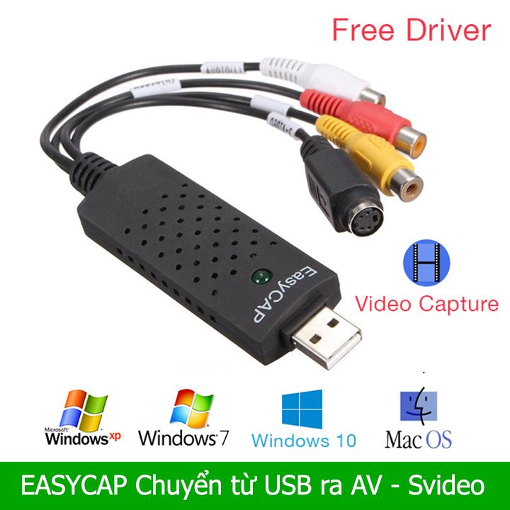 Easycap USB ghi hình AV S-Video máy siêu âm, nội soi vào máy tính