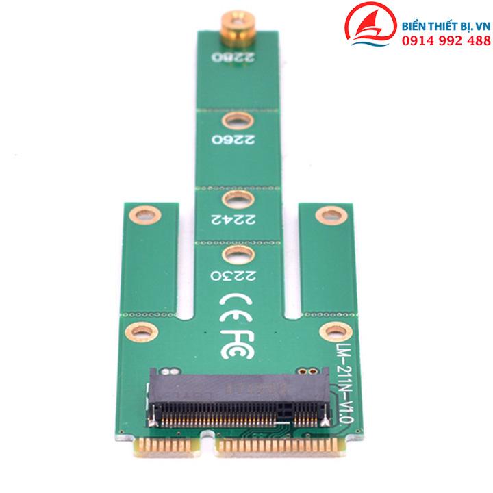Adapter chuyển đổi mSATA sang M2 SATA Lắp đặt ổ cứng SSD 2242-2280