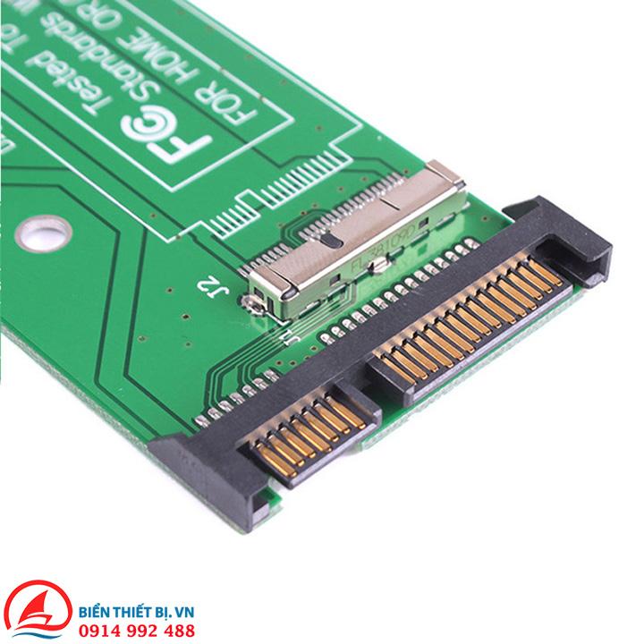 Adapter chuyển đổi SSD 2,5 inch SATA 7+17 Pin sang SATA 7+15Pin