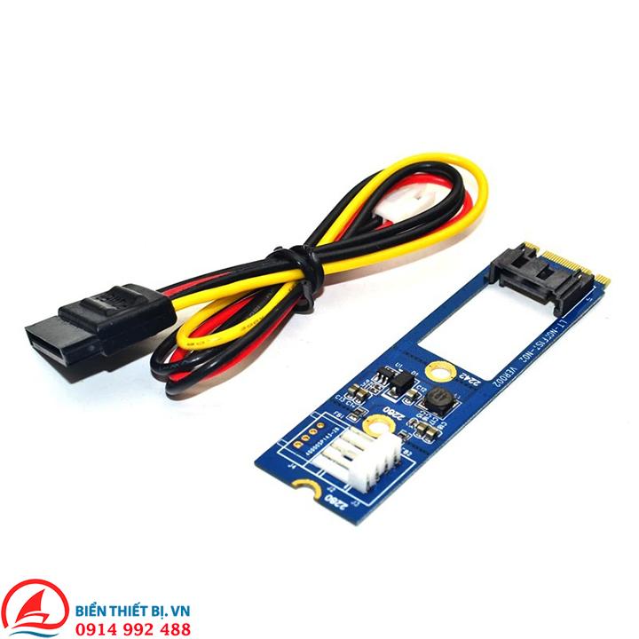 Adapter M.2 NGFF to SATA 7Pin tốc độ 6Gb cho ổ cứng HDD SSD SATA 3
