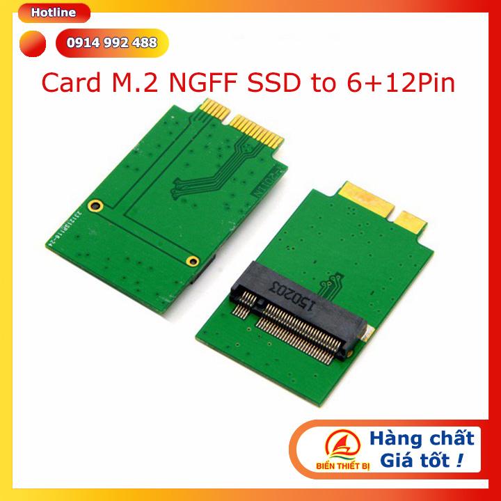 Adapter M.2 NGFF SSD 2280 sang 6+12Pin SSD Macbook Air 2010, 2011