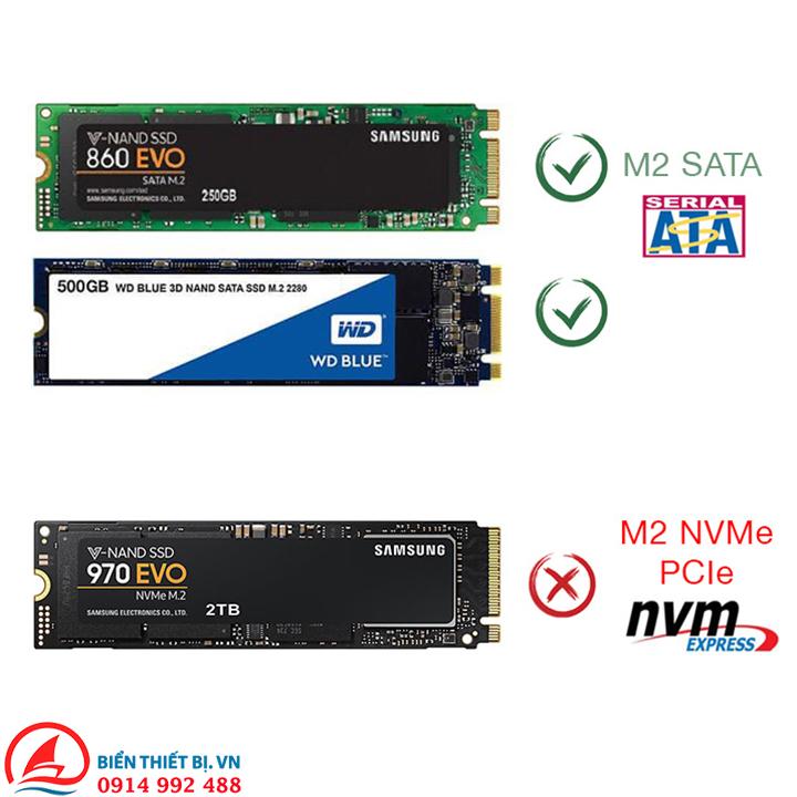 Card chuyển đổi M.2 NGFF Giao thức B-key ra 17 + 7Pin